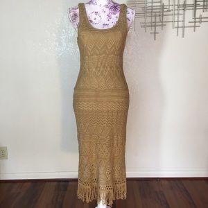 NWT Lauren Ralph Lauren Babir khaki crochet dress